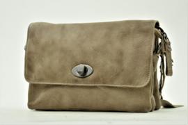 Bag2Bag - Dames schoudertas Spring - taupe/grijs