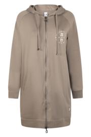 Zoso comfy sweat cardigan - 215 Mila - taupe off white