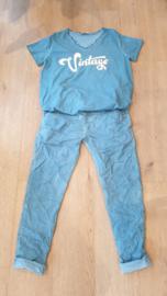 Triple Nine - Combinatie broek / shirt Petrol blauw
