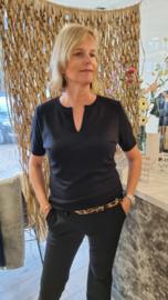 Zoso Knitted fancy turtle neck - Emmy 215 - black