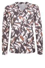 Zoso Blouse 204 Monica - off white / cognac
