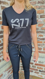 Zoso t-shirt with print - 215 Jane - black off white