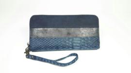 Mandoline dames portemonnee snake - blauw