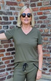 My Pashion shirt Tee-V Low Regular travel - Army groen