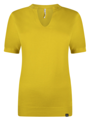 Zoso Knitted fancy turtle neck - Emmy 215 - spice yellow