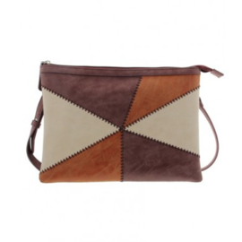 Tas / Clutch patchwork bordeaux rood