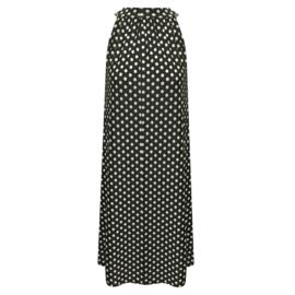 Halter jurk zwart wit stip dot
