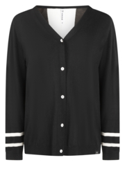 Zoso cardigan knitted - 215 Gale Black / off white