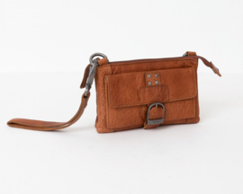 Bag2Bag - Dames schoudertas/clutch Albury cognac