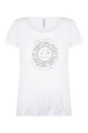 Zoso T-shirt with print  - 214 Daisy White black