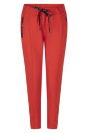 Zoso Sweat Pant with techzippers broek - 213 Hope Summer red