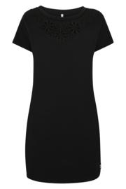 Zoso Sweat dress with embroderie Bregje - 214 Black zwart