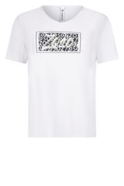 Zoso Luxury T-shirt with print - 213 Ingrid white navy