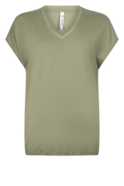 Zoso Luxury basic top with piping - 213 Nancy Green