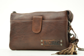 Bag2Bag - Dames schoudertas/clutch Dover - Brandy