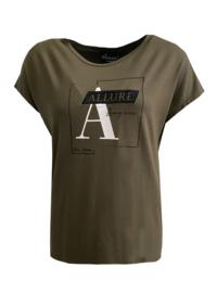 Elvira t-shirt Frame Olive - Groen