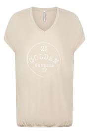 Zoso T-shirt with print  - 214 Gina Sand/White
