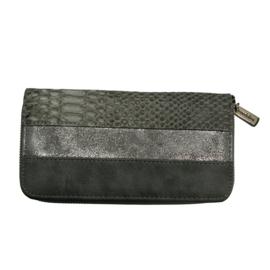 Mandoline dames portemonnee snake - zwart