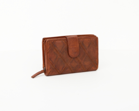 Bag2Bag -  Dames wallet / portemonnee Madrid - cognac