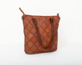 Bag2Bag -  Dames shopper/schoudertas Madrid - cognac