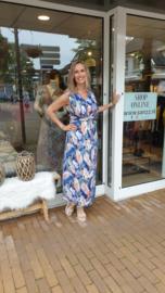 Zomer jurk maxi dress - Blue roze  One Size