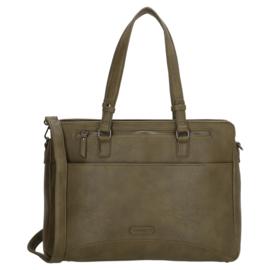 Enrico Benetti schoudertas/laptoptas  Kira -  olive/ groen