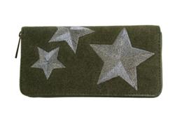 Portemonnee groen ster zilver