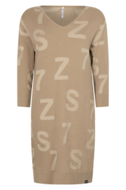 Zoso sweater/dress with tonal artwork - 211 Jordan driftwood