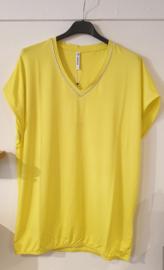 Zoso Luxury basic top with piping - 213 Nancy yellow