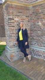 Triple Nine - Lange blouse navy blauw
