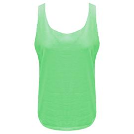 Top Fel groen - ronde hals  One Size