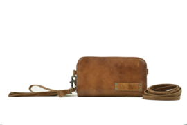 Bag2Bag dames schoudertas / clutch / wallet New Jackson - cognac