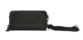 Bag2Bag dames schoudertas / clutch / wallet Tennessee - zwart
