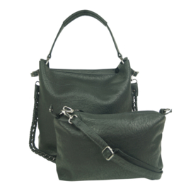Eternel dames schoudertas / handtas bag in bag - zwart