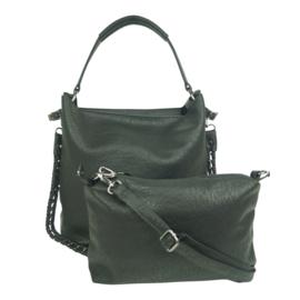 Eternel dames schoudertas / handtas bag in bag - zwart