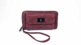 Eternel dames portemonnee met voorvak - bordeaux rood