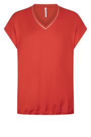 Zoso Luxury basic top with piping - 213 Nancy Summer red