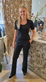 My Pashion trouser Triana flared broek - Black zwart