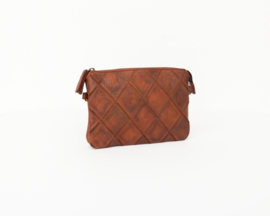 Bag2Bag -  Dames clutch / schoudertas Madrid - cognac