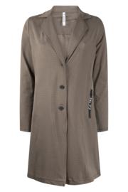 Zoso printed sporty long blazer - 215 Madeline - taupe black