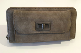 Eternel dames portemonnee met voorvak - taupe