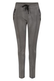 Zoso printed sporty trouser - broek - 212 Denise navy / white