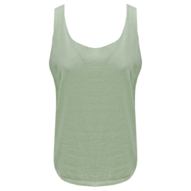 Top Army green - ronde hals  One Size