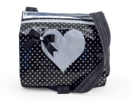 Zebra Trends schooltas Zilver hart - zilver / zwart
