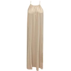 Zomer slip halter jurk  - Beige  One Size