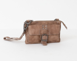 Bag2Bag - Dames schoudertas/clutch Albury grey