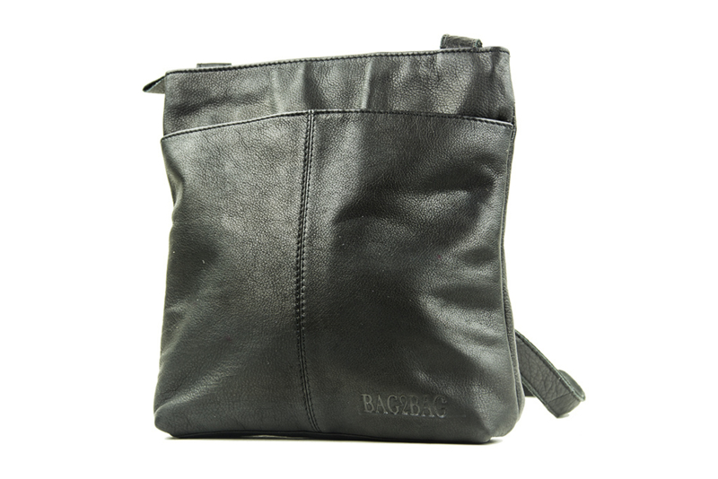 Bag2Bag dames schoudertas Reno - zwart