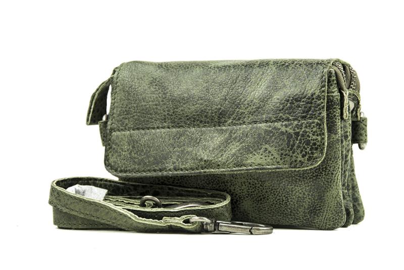 Bag2Bag dames schoudertas/clutch Quebec - groen
