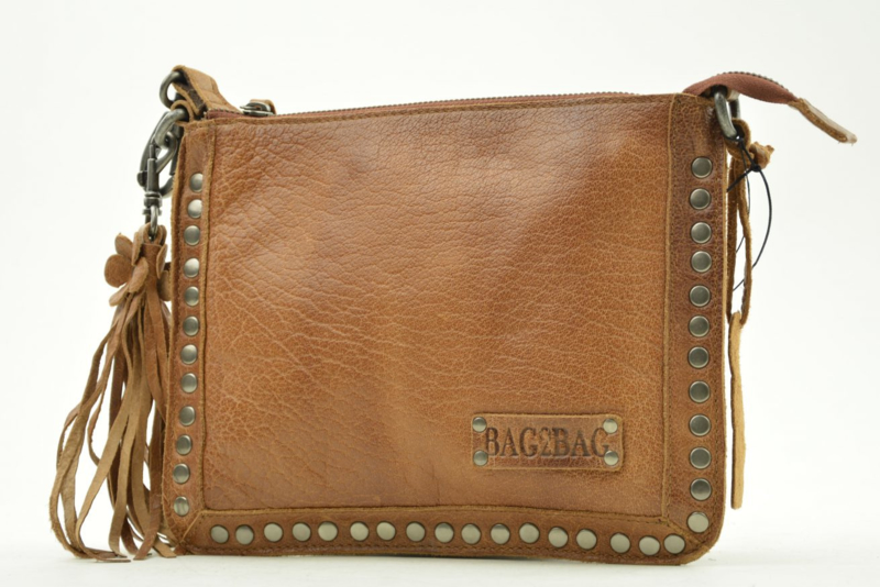 Bag2Bag - Dames schoudertas Joplin - cognac brown