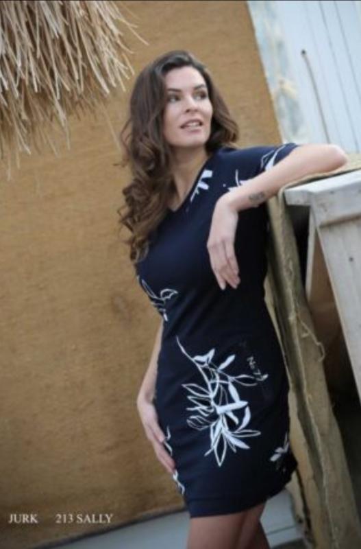 Zoso Allover printed sweat dress - 213 Sally Navy / white